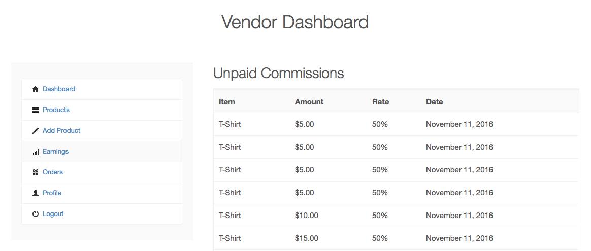 easy digital downloads vendor commissions
