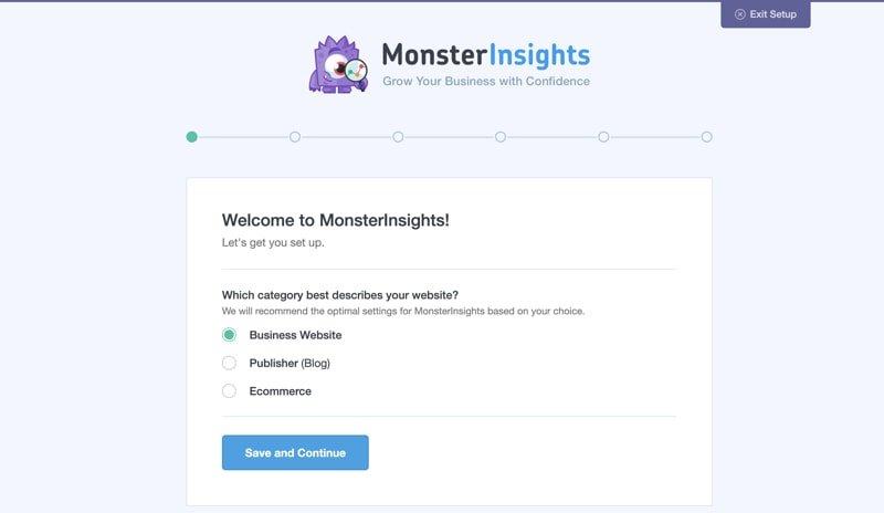 monsterinsights plugin setup
