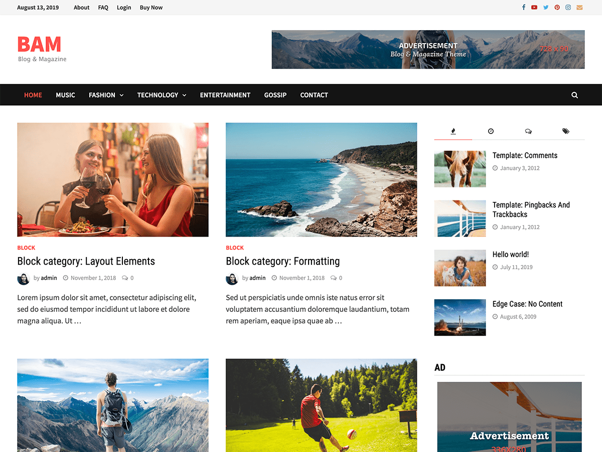 clean and modern WordPress magazine theme