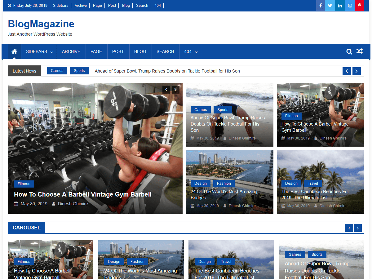 WordPress theme for blog and magazine