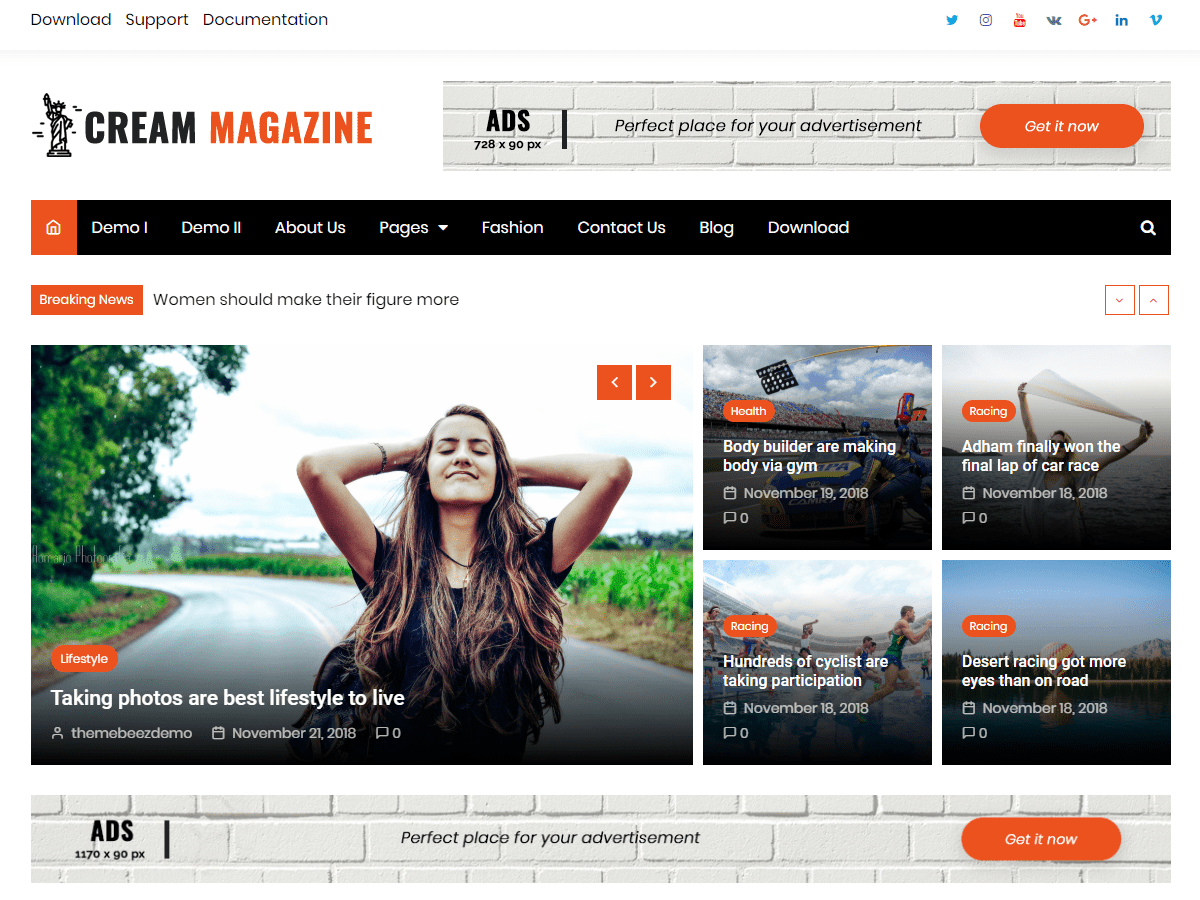 WordPress theme for news and magazine websites