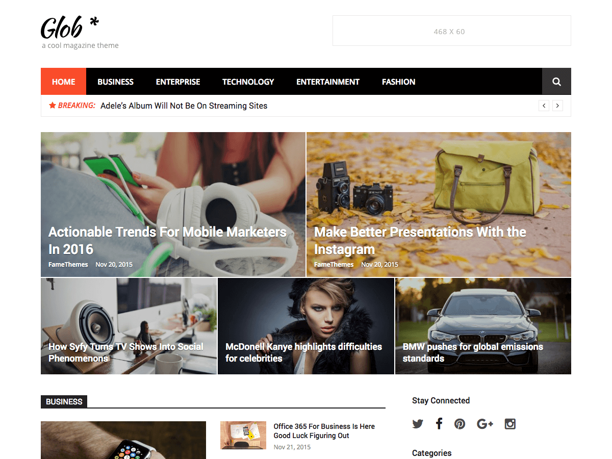 professional WordPress magazine theme