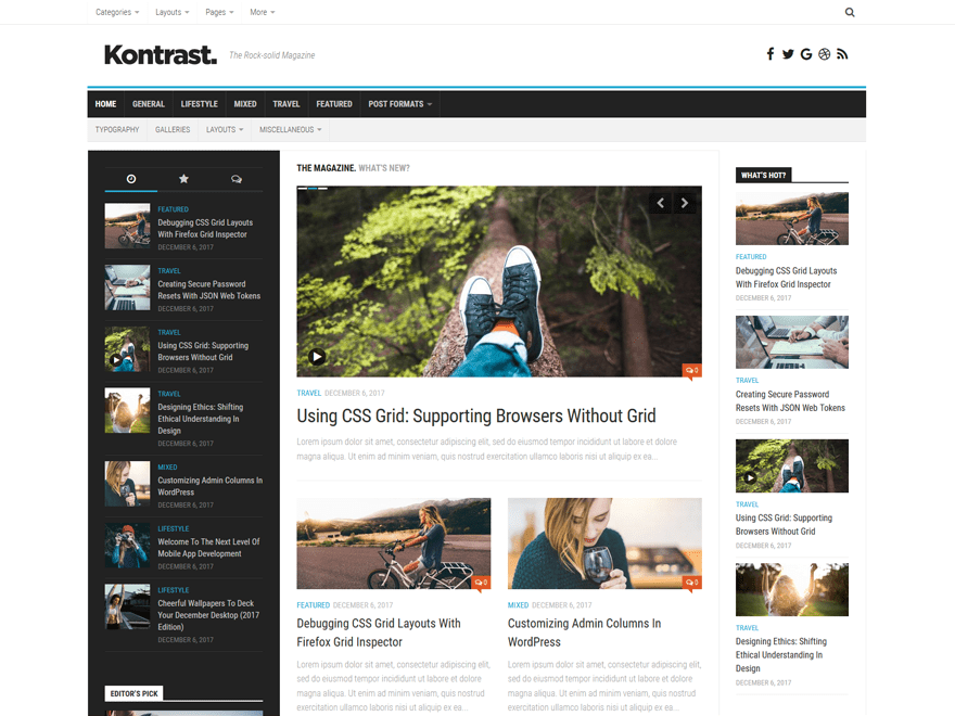 unique and simple WordPress magazine theme