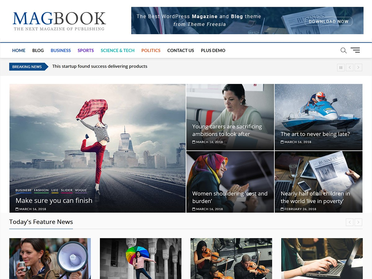 top free magazine WordPress theme