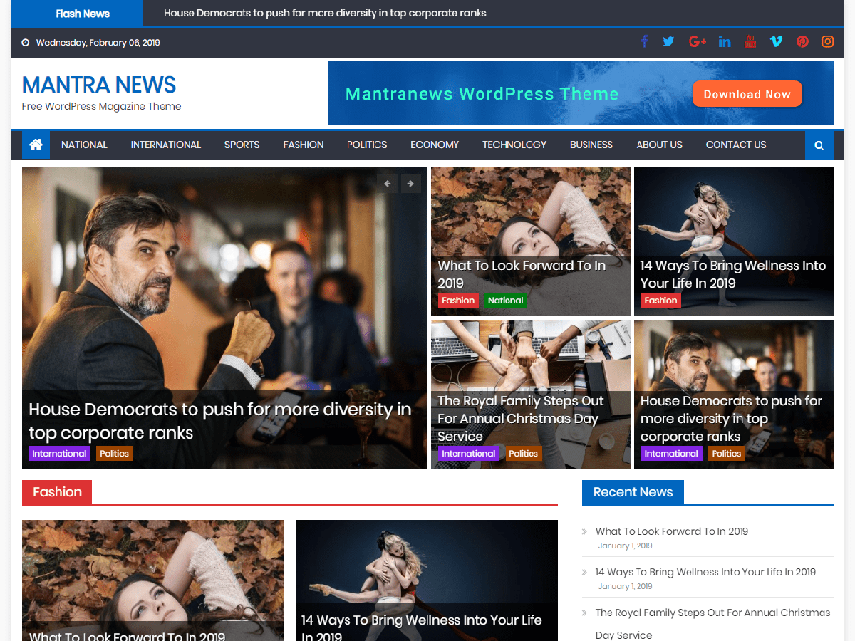 Prodigious magazine WordPress theme for free