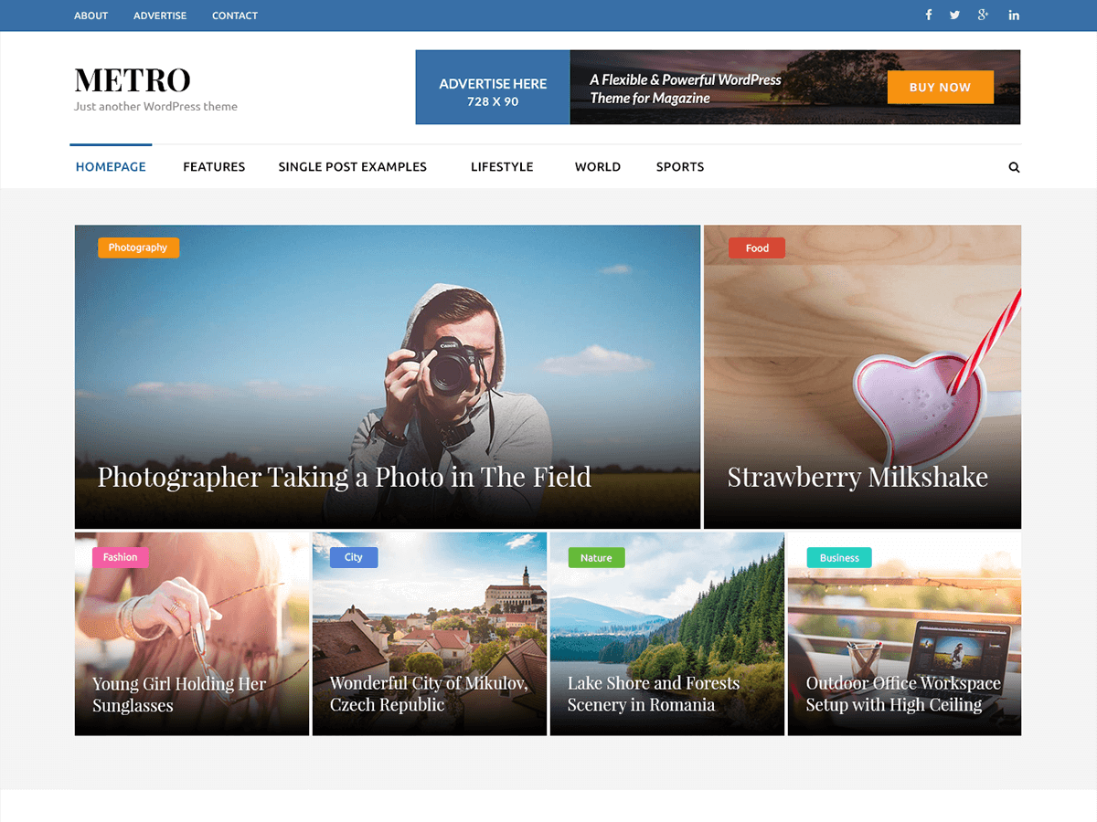Colorful, modern, clean, and responsive magazine theme