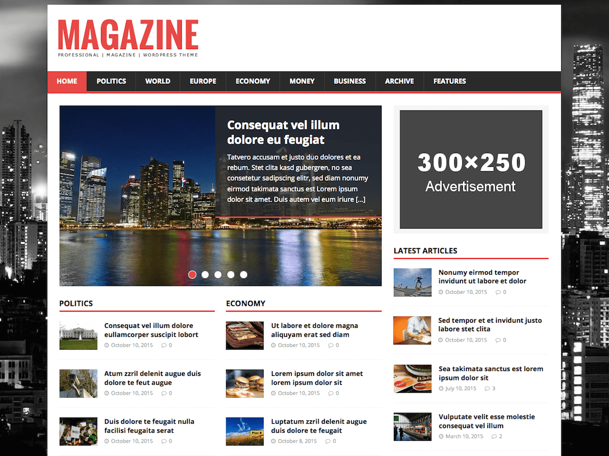 Light-weight WordPress magazine theme