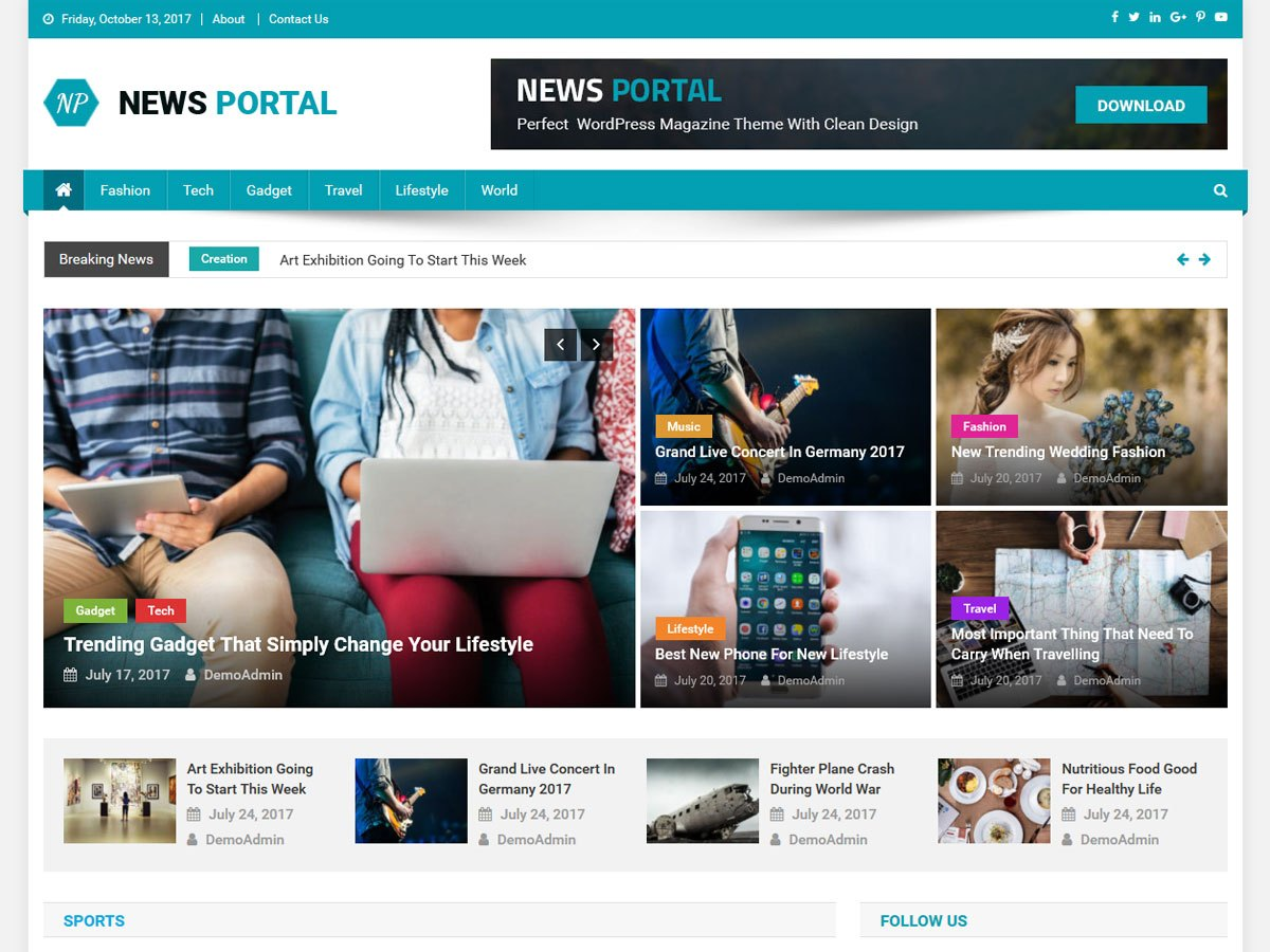 WordPress theme for News Portal