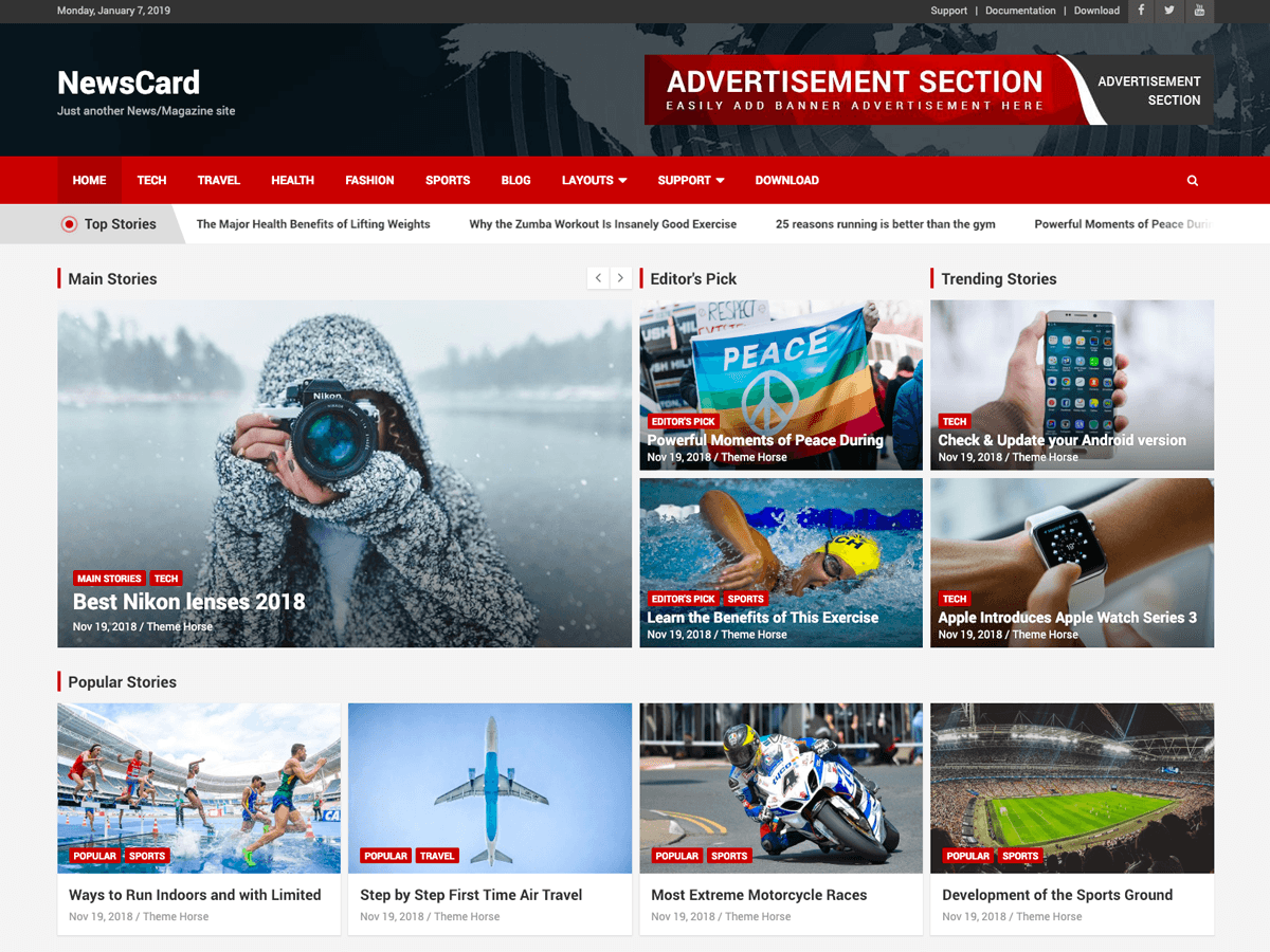 Adsense ready WordPress magazine theme