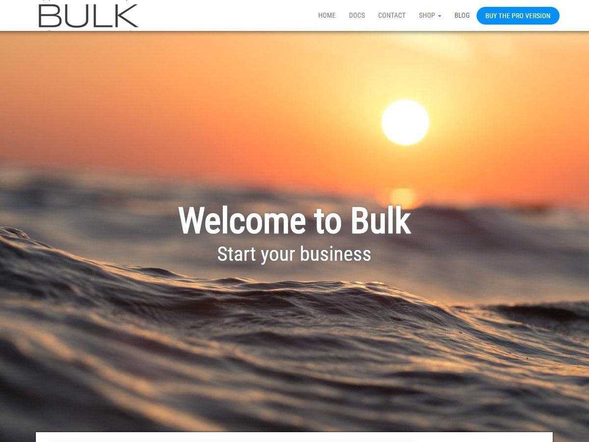 Bulk WordPress theme