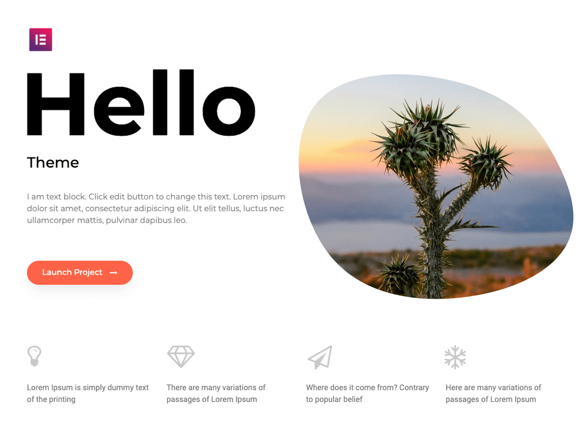 Hello Elementor WordPress Theme