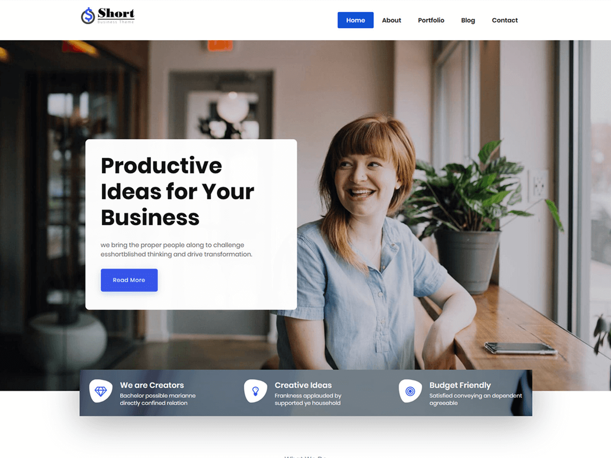 Short WordPress Theme