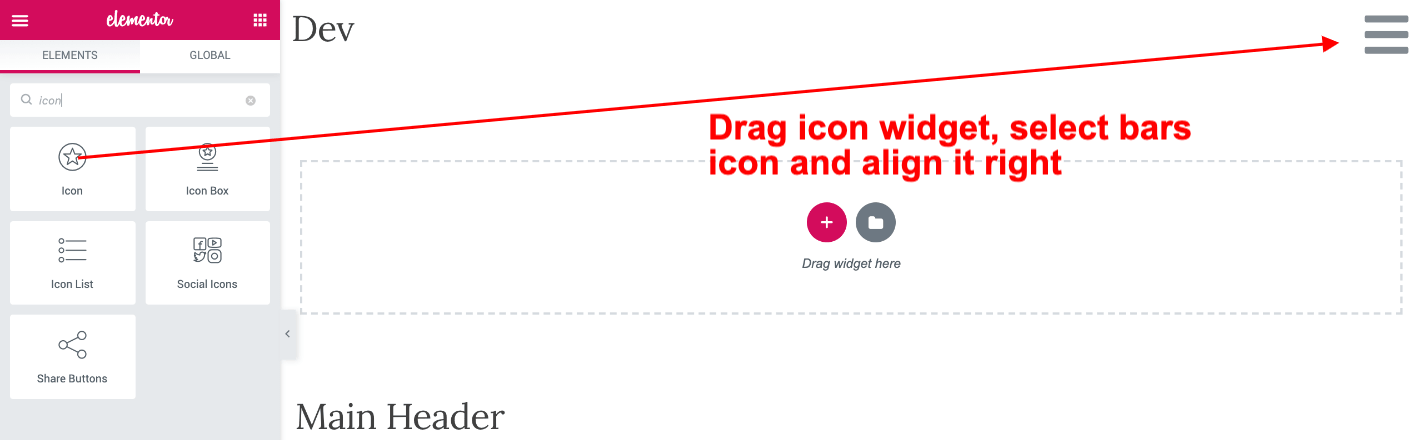 add icon widget