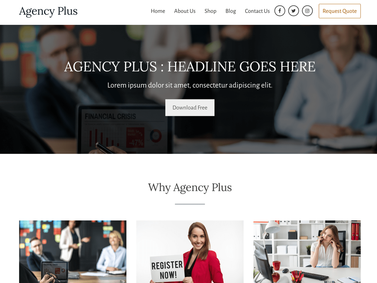 Agency Plus WordPress Theme