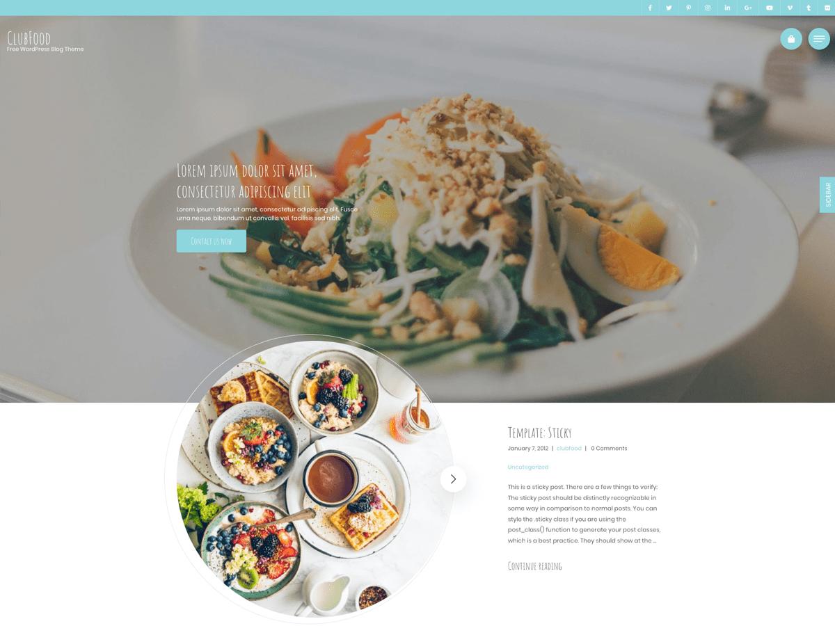 ClubFood WordPress theme