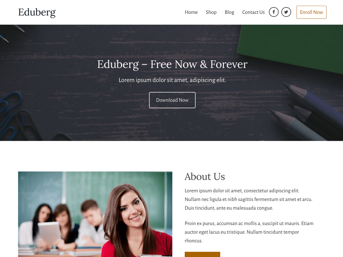Eduberg WordPress Theme