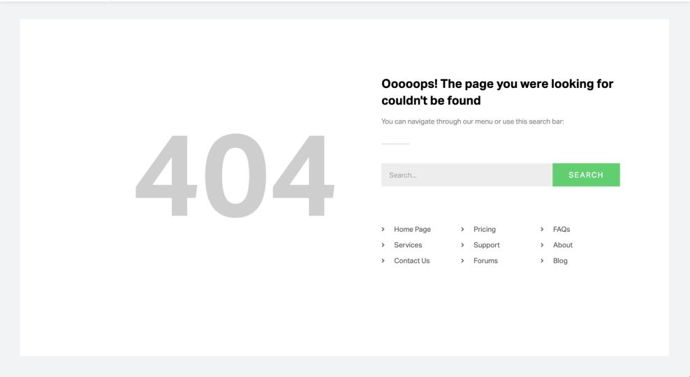 Add 404 Error Page in WordPress